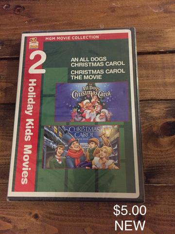 2 Holiday Kids Movies: An All Dogs Christmas Carol/Christmas Carol The Movie