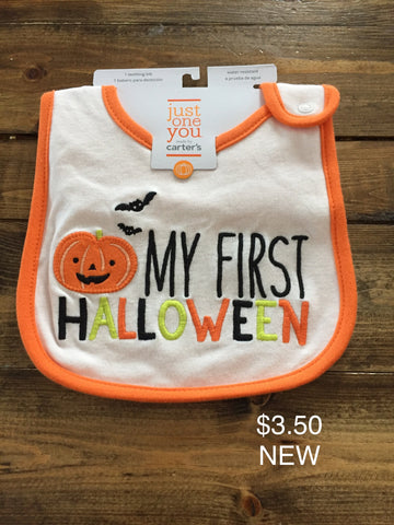"Carter's ""My First Halloween"" Bib"