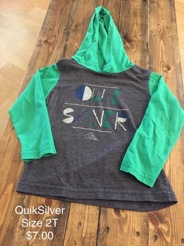 QuikSilver Hooded Long Sleeve Shirt