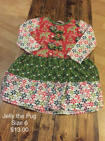 Jelly the Pug Holiday Dress