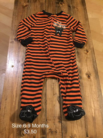 """My 1st Halloween"" Zip Up Outfit"