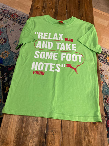 "Puma ""Relax and Take Some Foot Notes"" T-Shirt"