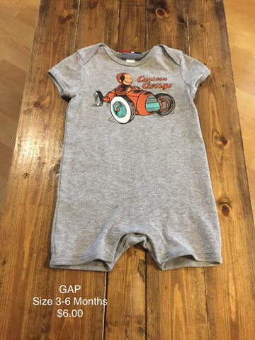 GAP Curious George Romper