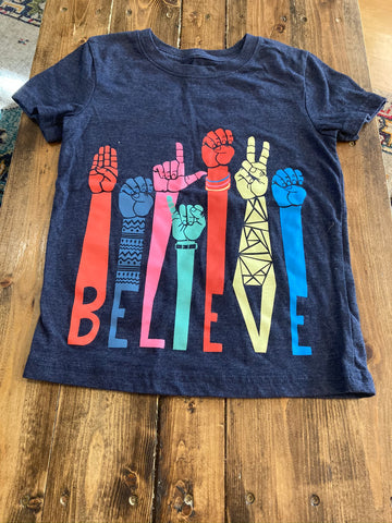 "Cat & Jack ""Believe"" Short Sleeve Shirt"