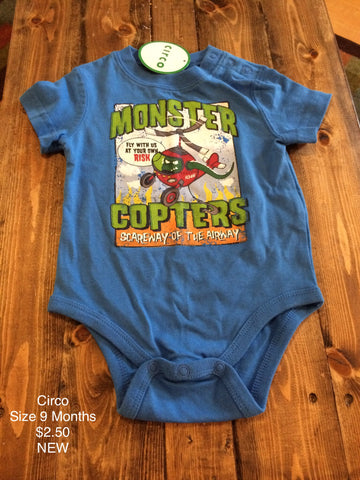 "Circo ""Monster Copters"" Onesie"