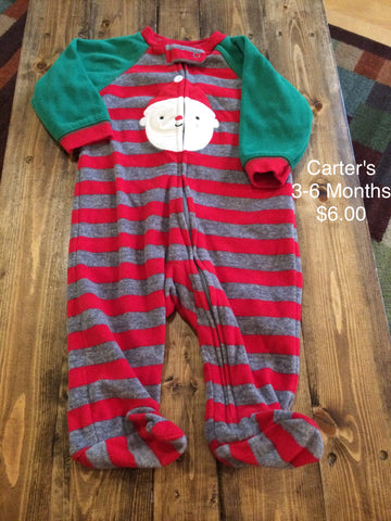 Carter's Santa Zip Up Fleece Pajama