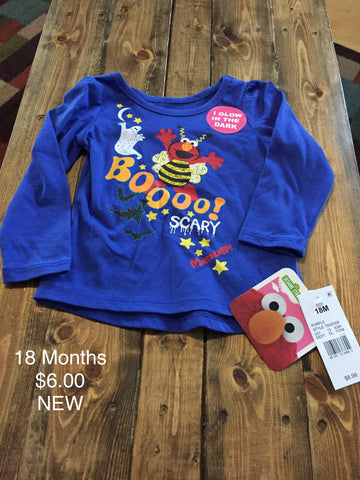 Sesame Street Girls Halloween Long Sleeve Shirt