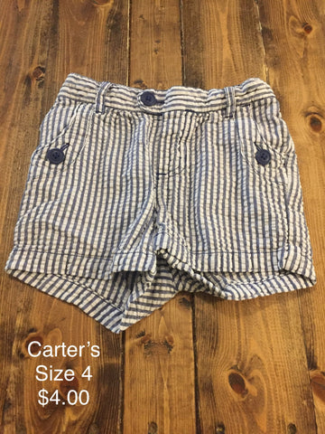 Carter's Pinstripe Shorts