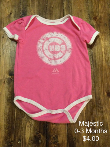Majestic Chicago Cubs Onesie