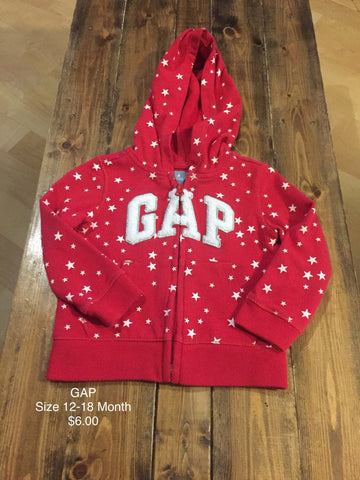 GAP Zip Up Hooded Sweatshirt