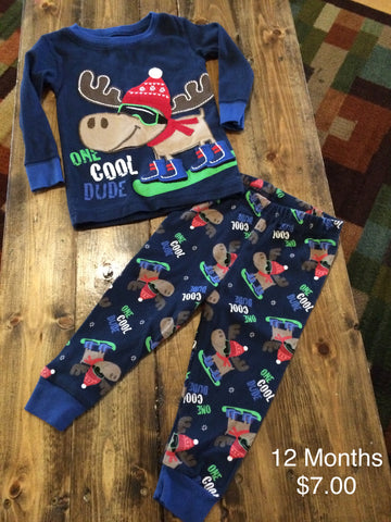 "Babies R Us ""One Cool Dude"" Two Piece Pajama Set"