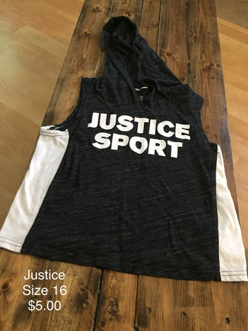 Justice Sport Sleeveless Shirt