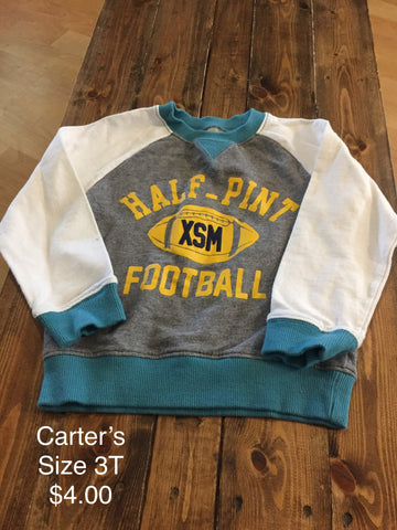 "Carter's ""Half-Pint Football"" Sweatshirt"
