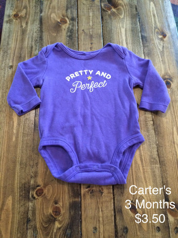 "Carter's ""Pretty and Perfect"" Onesie"