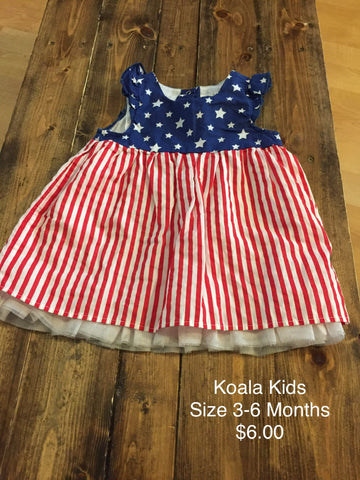 Koala Kids American Flag Dress