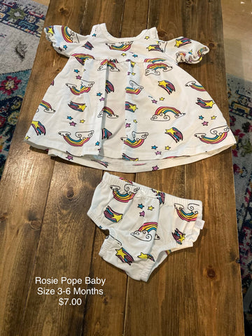Rosie Pope Baby Unicorn Print Outfit