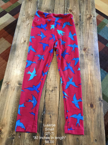 Lularoe Bird Print Leggings