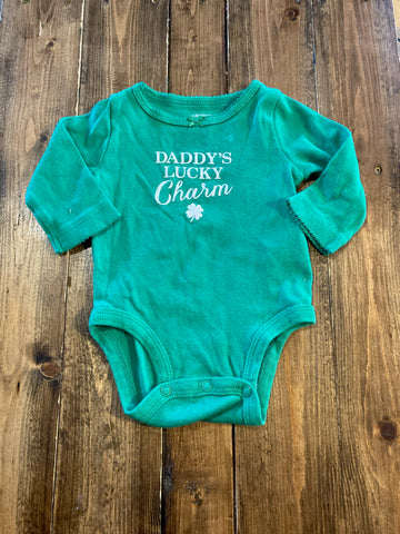 "Carter's Girls ""Daddy's Lucky Charm"" Long Sleeve Onesie"