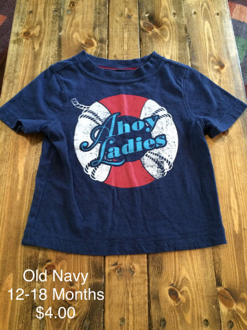 "Old Navy ""Ahoy Ladies"" T-Shirt"