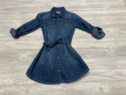 Old Navy Blue Jean Button Down Dress