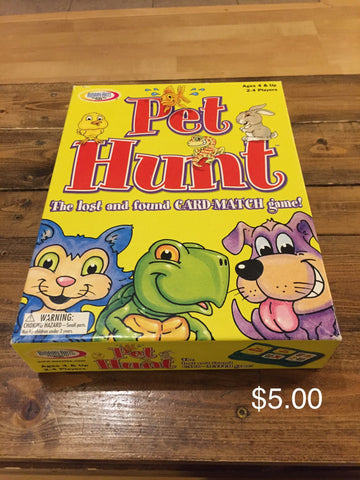 Pet Hunt The lost and found CARD-MATCH game!