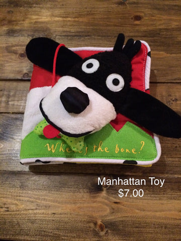 Manhattan Toy Where's The Bone Soft Book