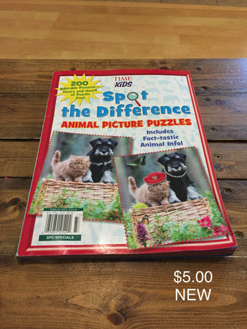 Time Kids: Spot the Difference Animal Picture Puzzles