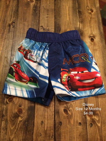 Cars Lightning McQueen Swim Trunks