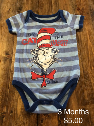 Dr. Seuss Cat In The Hat Onesie