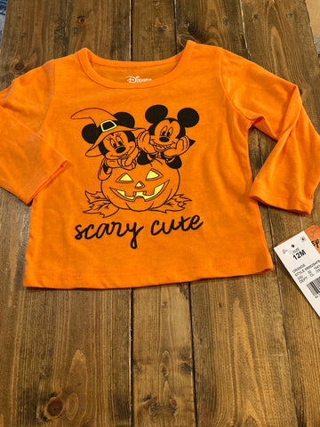 "Disney ""Scary Cute"" Girls Long Sleeve Shirt"