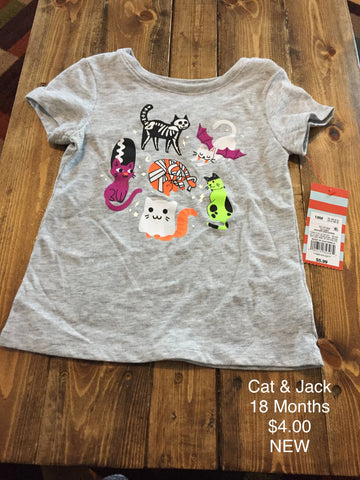 Cat & Jack Girls Halloween T-Shirt