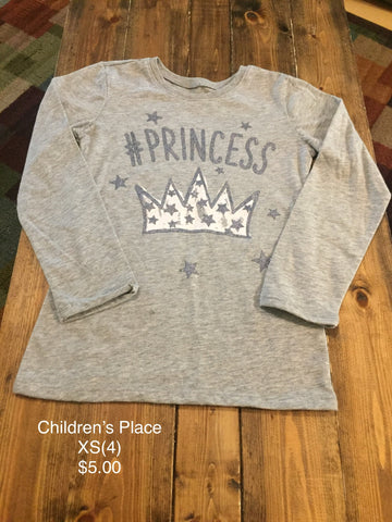 "Children's Place ""#Princess"" Long Sleeve Shirt"