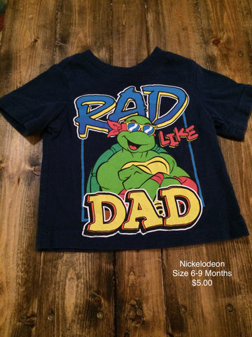 "Nickelodeon TMNT ""Rad Like Dad"" T-Shirt"