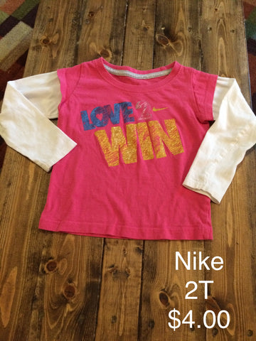"Nike ""Love 2 Win"" Long Sleeve Shirt"