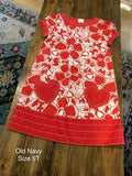 Old Navy Flower & Heart Print Dress
