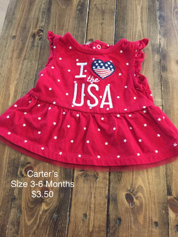 "Carter's ""I Heart the USA"" Shirt"