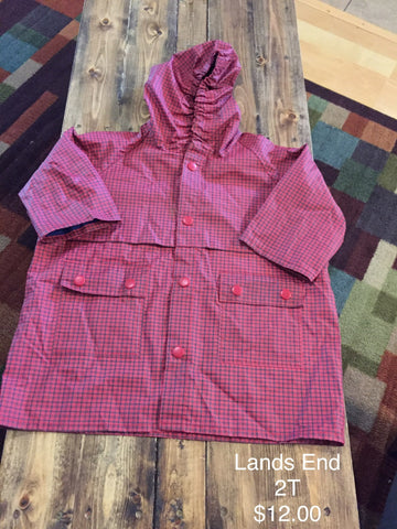 Lands End Girl's Rain Jacket