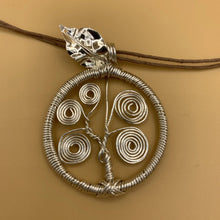 Load image into Gallery viewer, Necklace, Tree of Life, Silver with Silver Leaf