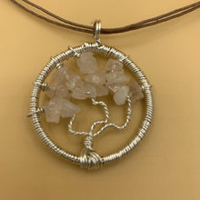 Load image into Gallery viewer, Necklace, Tree of Life, Rose Quartz