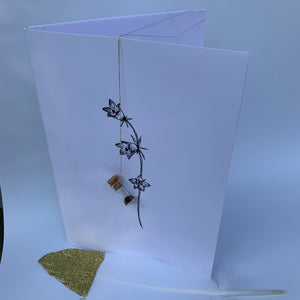 Notebook with flower seeds - handcrafted - large