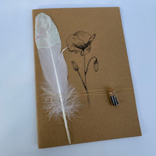 Load image into Gallery viewer, Notebook with flower seeds - handcrafted - large