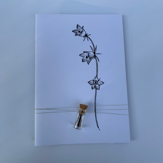 Notebook with flower seeds - handcrafted - medium