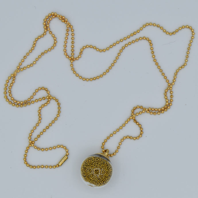 Necklace With Tiny Golden Balls Inside