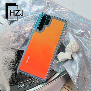 Dynamic Noctilucent Luminous Neon Quicksand Phone Case For Huawei Mate20/Mate20 Pro/Mate 20lite