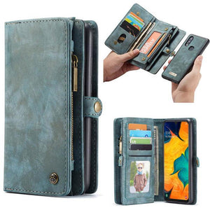 CaseMe Samsung Galaxy A40 Zipper Wallet Magnetic Case Detachable 2 in 1 Cover