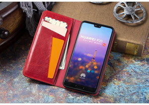 Multifunctional detachable 2-in-1 multi-card anti-drop mobile phone holster Huawei P20