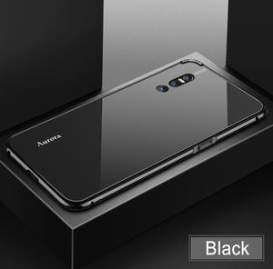 Aurora color Tempered glass back phone case for VIVO X27