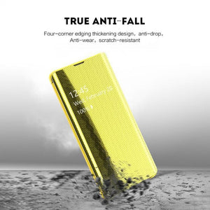 Luxury Fourth Generation Electroplated Mirror Smart Flip Phone Case For iPhone 6Plus/6SPlus/7/8/7Plus/8Plus/X/XS/XR/XS MAX