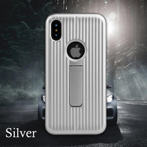 Magnetic bracket mobile phone case for Apple series anti-fall protection cover car back cover all-inclusive anti-skid mobile phone case for Apple iPhone6/6S/6/6S Plus/7/8/7/8 Plus/iPhoneX/XS/XR/XS MAX