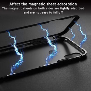 Magnetic Adsorption Tempered Glass Bumper Cover Phone Case For Xiaomi Mi 8Lite/A2/6X